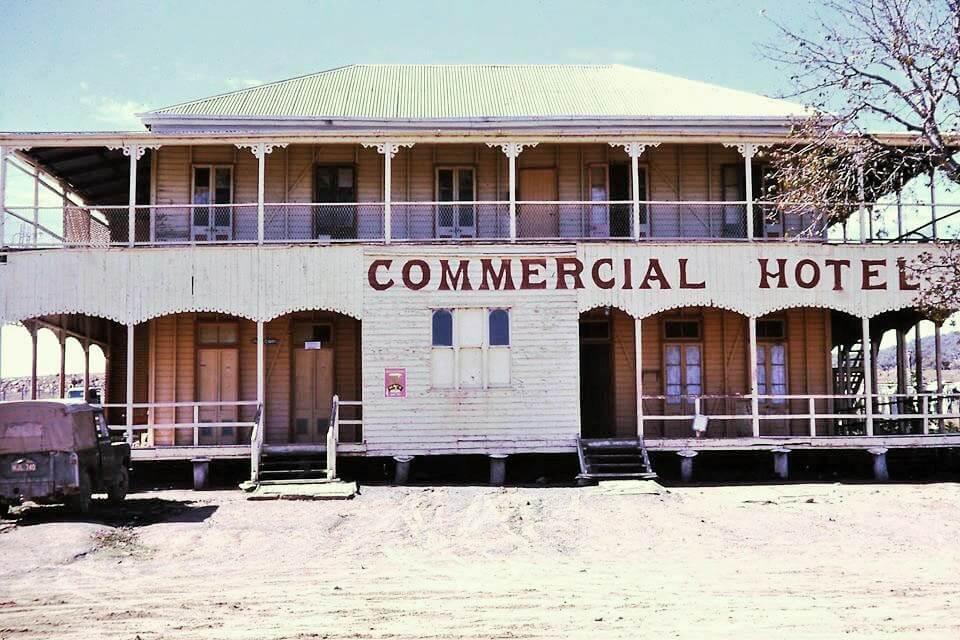 Undated. Former Commercial Hotel, Bogantungan. Photo source: Dawn Hetherington, in response to my Facebook post, 2018.