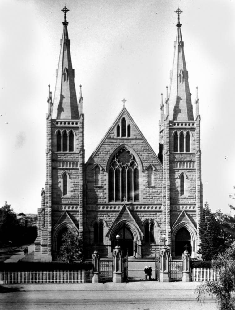 1923. St. Joseph's Catholic Cathedral, Rockhampton. Photo source: State Library of Queensland. Public domain.