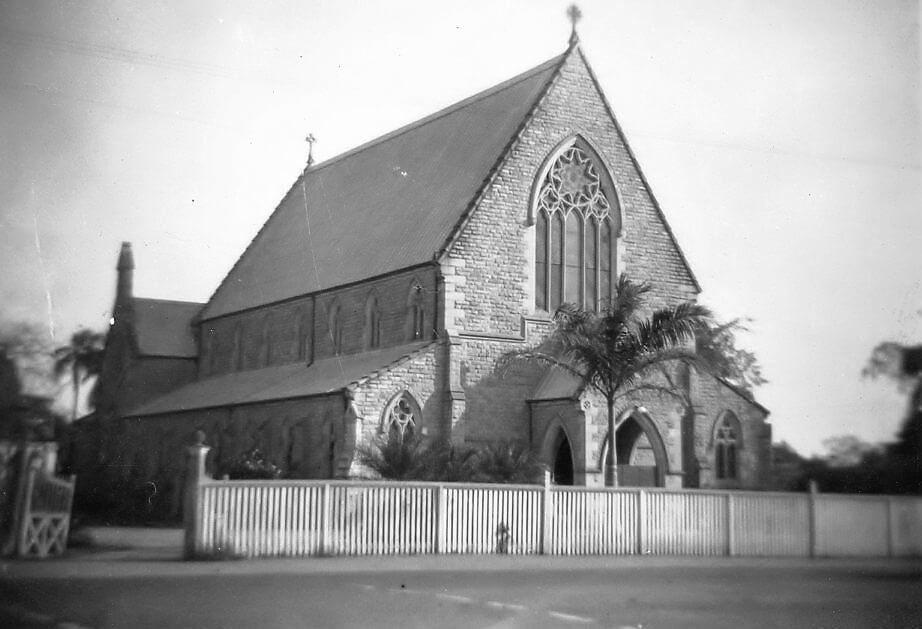 1945. St Paul's Anglican Cathedral, Rockhampton. Photo source: Proposch Family collection.
