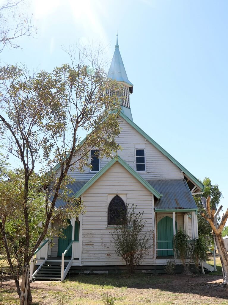 St Peter's Anglican Church, Barcaldine, Queensland. Photo source: Judith Salecich 2019.