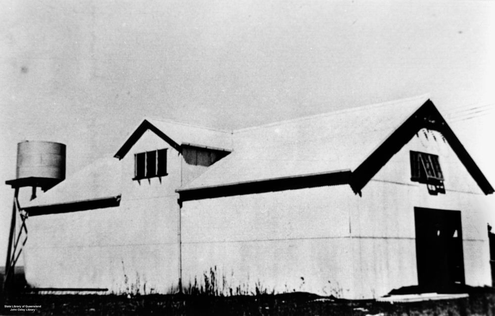 1942. Buderim Ginger Factory, Burnett Street, Buderim. Photo source: State Library of Queensland. Public domain.