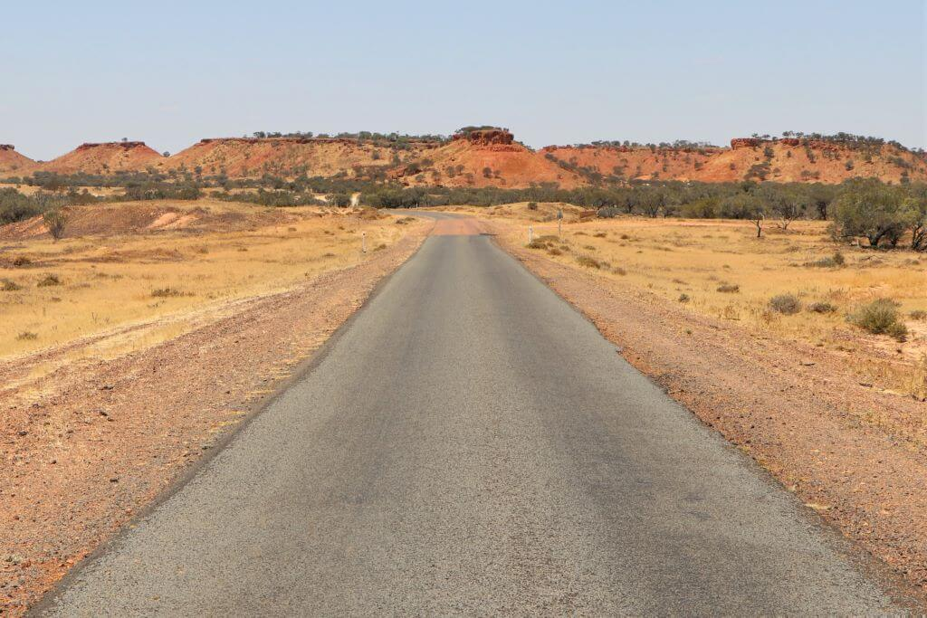 Lilleyvale Hills and approach to Cawnpore Lookout, Winton Shire, Kennedy Development Road.