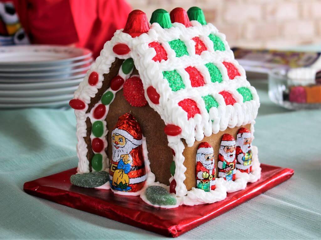 A Christmas gingerbread house