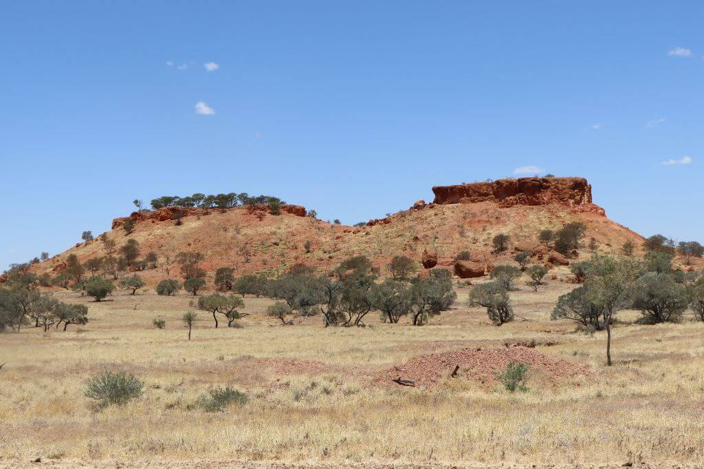 """Mesas, or """"jump-ups"""", Lilleyvale Hills, Winton Shire, Kennedy Development Road."""