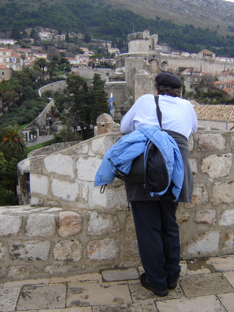 View from the western wall, Dubrovnik Wall Walk