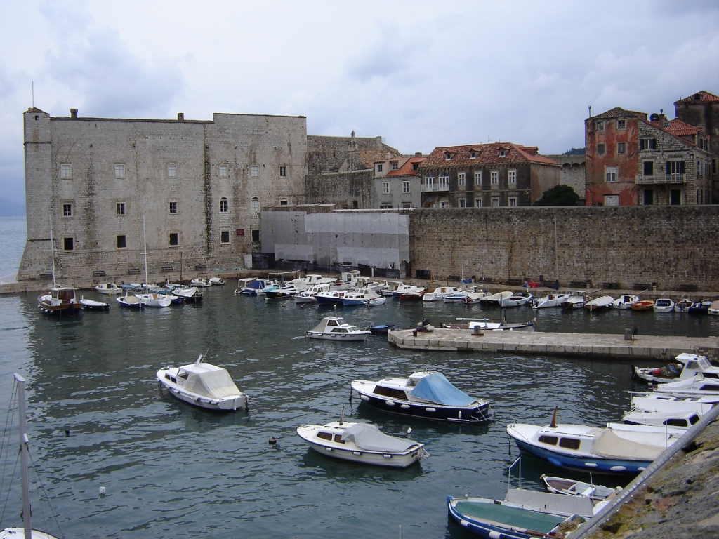View of Old Port from northern wall, Dubrovnik Wall Walk