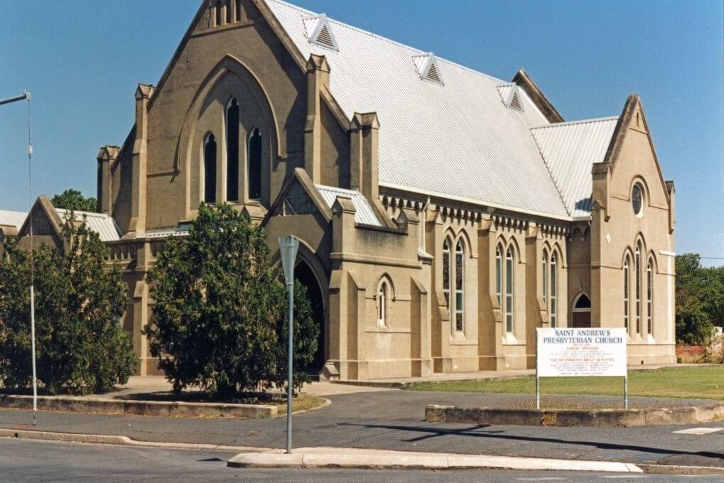 Undated. The former St Andrew's Presbyterian Church, Bolsover Street, Rockhampton. Photo source: David Tootell.