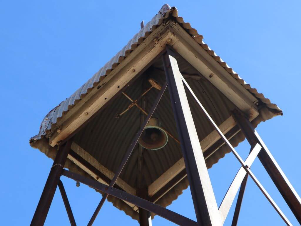 Church bell, outside St Margaret's Anglican Church, Croydon, Queensland