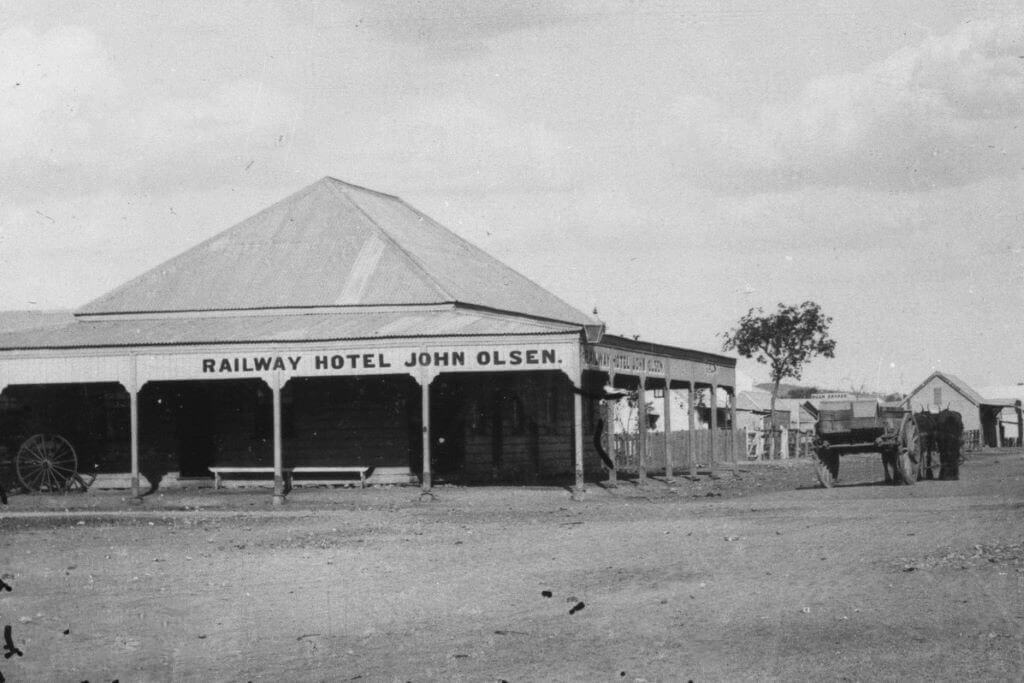 c. 1893. Railway Hotel, Croydon, Queensland.