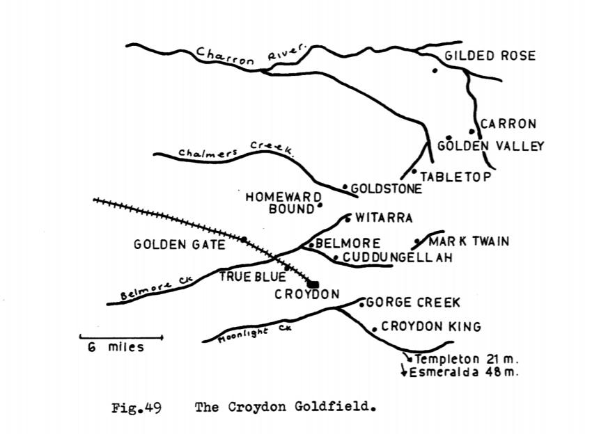 The Croydon Goldfield. Map.
