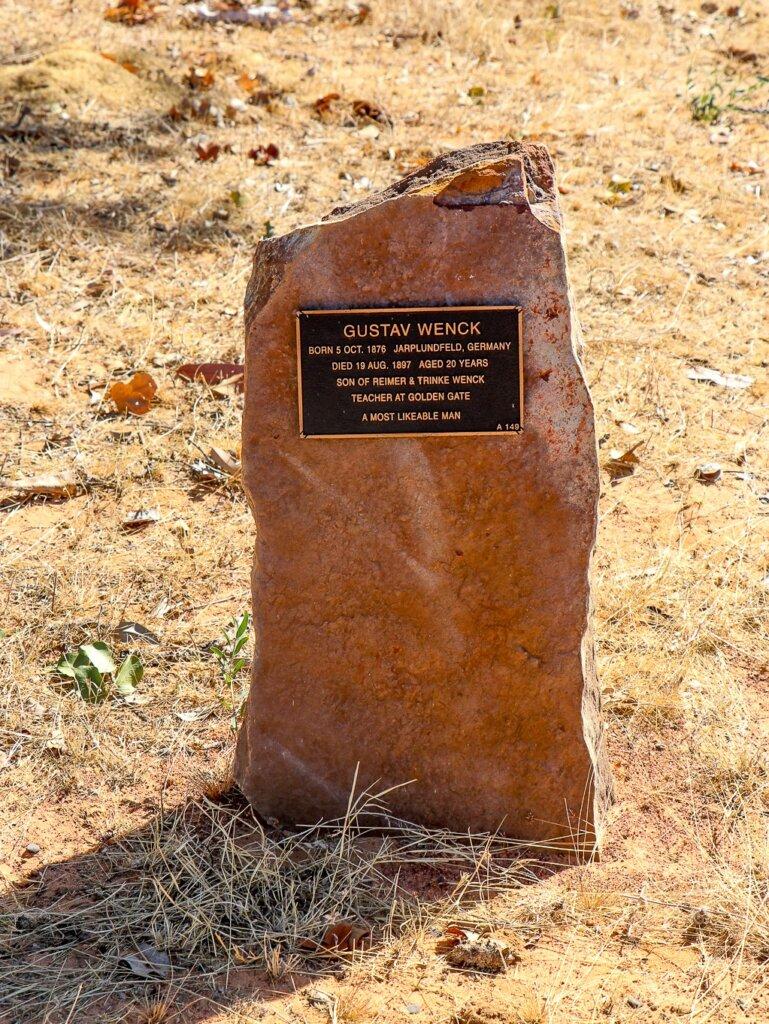 "Croydon Cemetery: Gravestone of Mr Ferdinand Emil ""Gustav"" Wenck, died 1897."