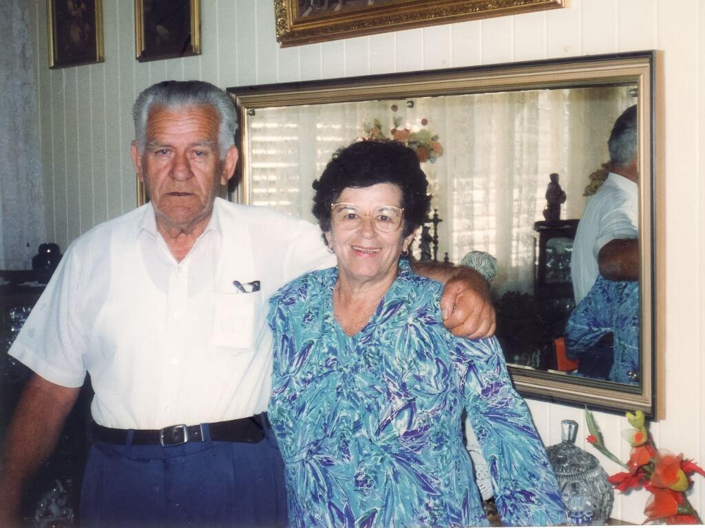 Camillo and Vilma Bianchi, at home in Paddington (Brisbane). Photo source: Salecich collection 1992.