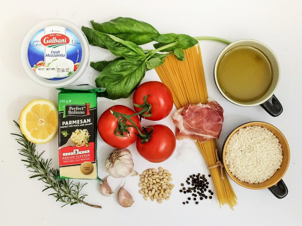 Essential ingredients of Italian cooking. Photo source: Salecich collection 2020.