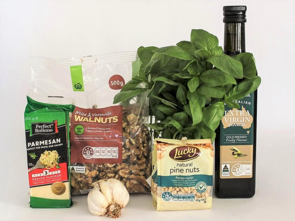 Ingredients for making your own pesto. Photo source: Salecich collection 2020.