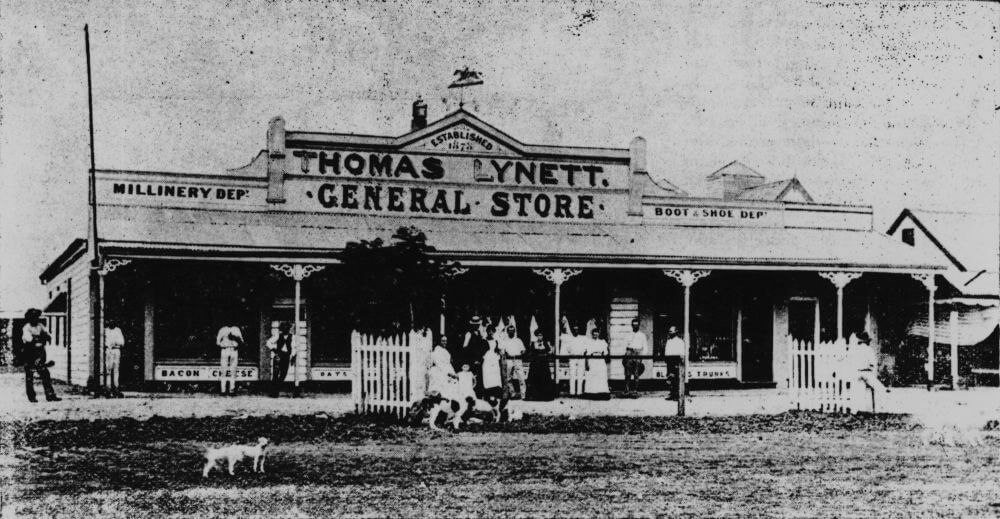 1898. Thomas Lynett's general store at Winton, Queensland. State Library of Queensland.