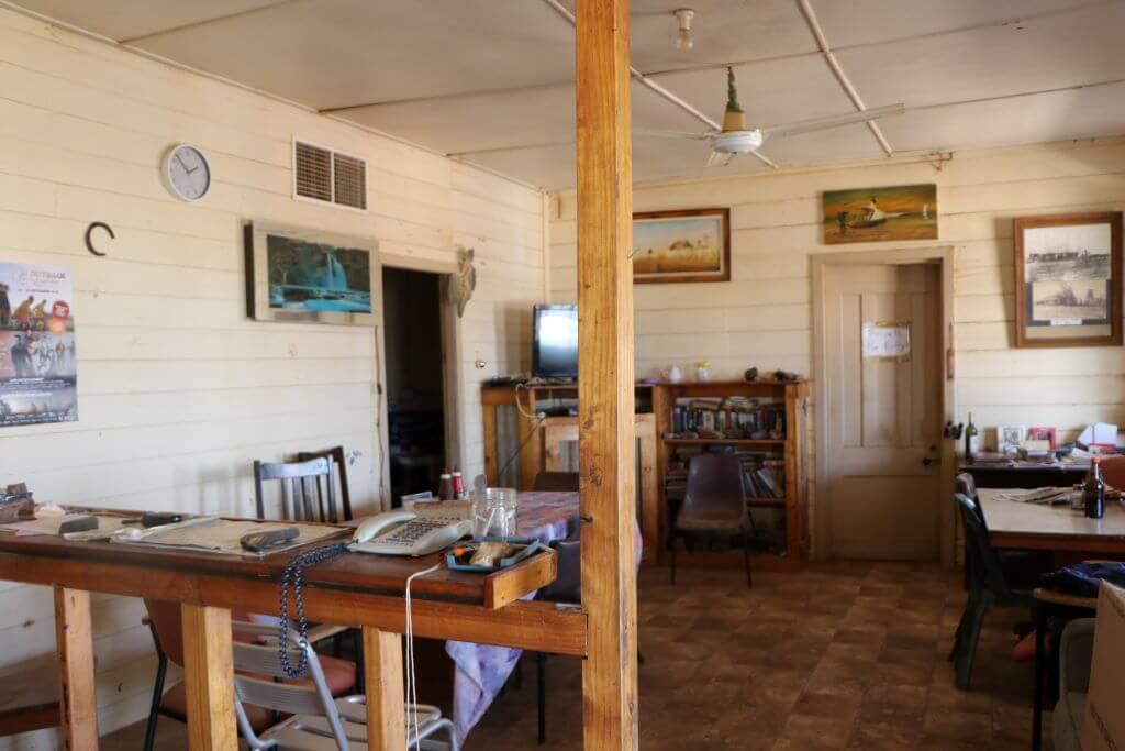 Dining room, Middleton Hotel, Middleton, Queensland.