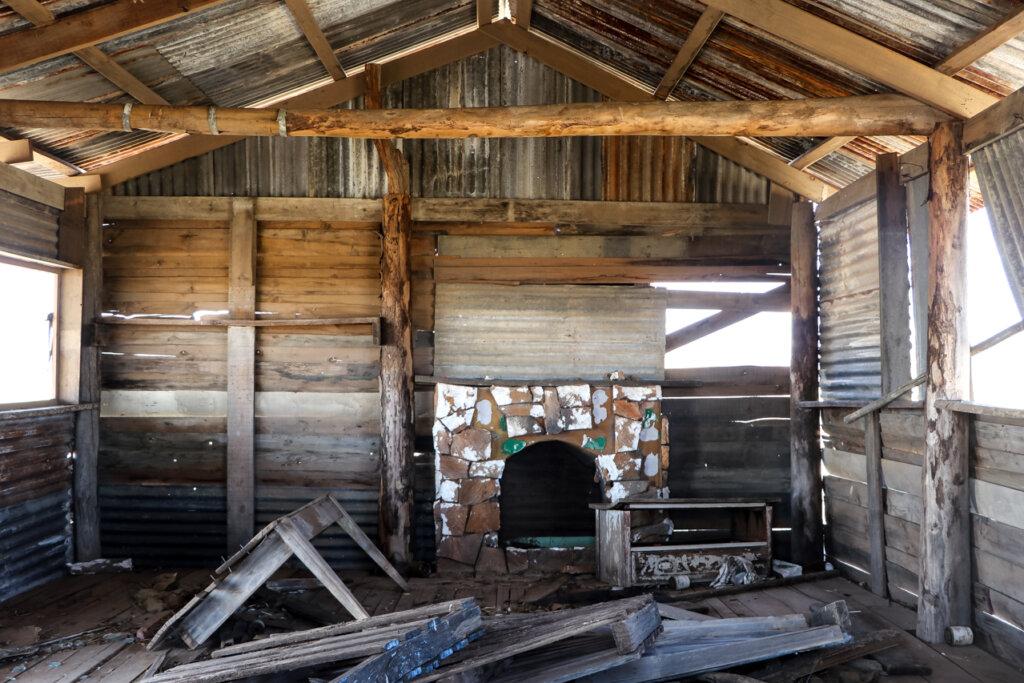Interior, abandoned hut, near Middleton, Queensland.