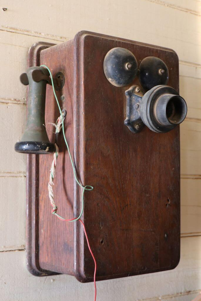 Early telephone, Middleton Hotel, Middleton, Queensland.