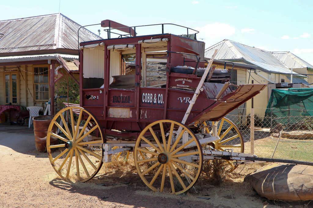 Former Cobb and Co coach, Middleton Hotel, Middleton, Queensland.