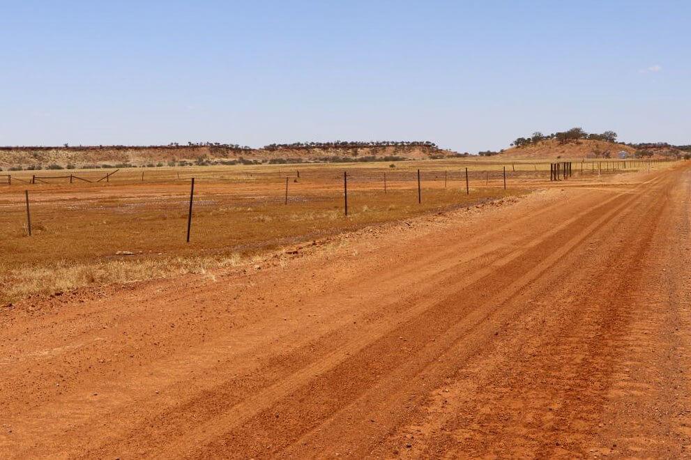 Pollygammon Creek roadworks, Boulia Shire, Kennedy Development Road.