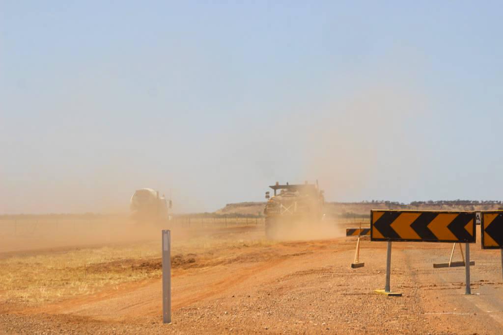 2019. Pollygammon Creek roadworks, Boulia Shire, Kennedy Development Road.