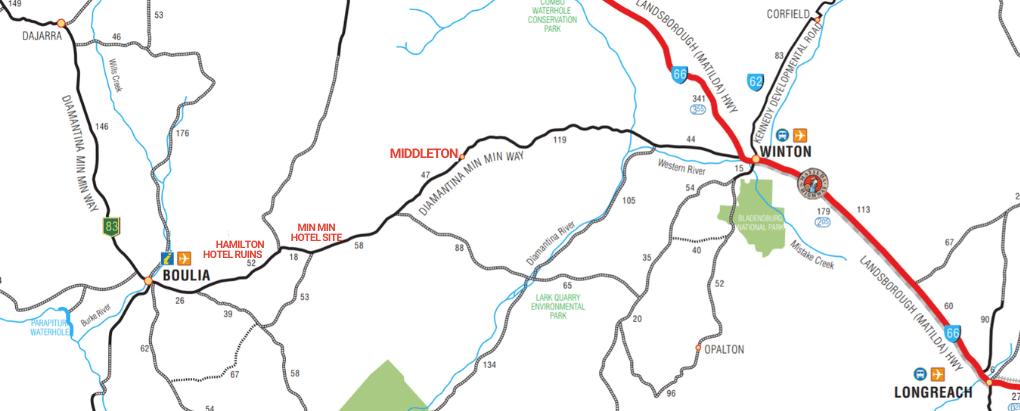 Winton-Boulia road map. Source: Boulia Shire Council. Adapted.